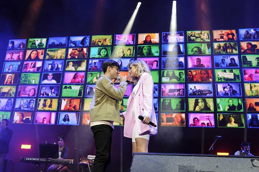 Flavio y Samantha, una de las actuaciones favoritas de 'OT 2020: Díselo a la vida'