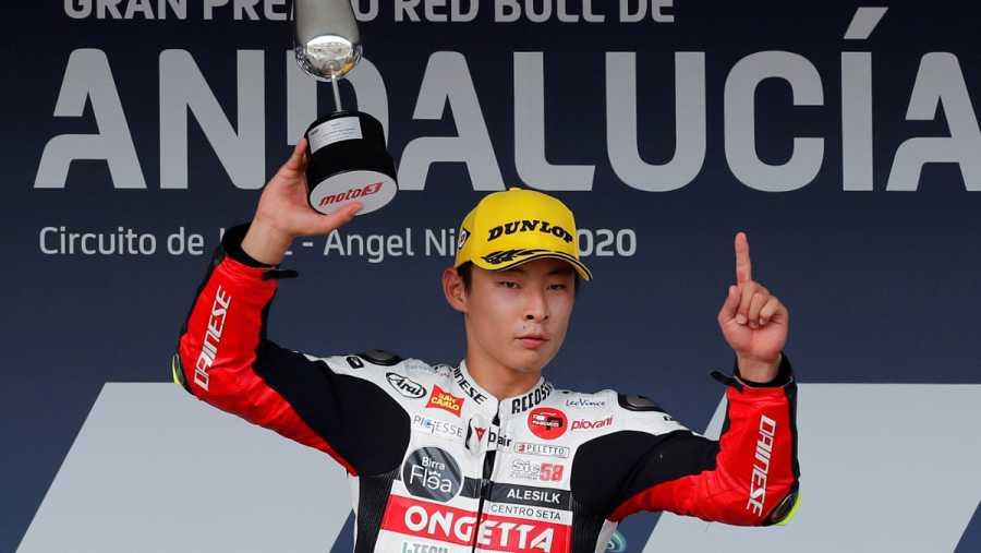 Imagen: Suzuki celebra la victoria en Moto3