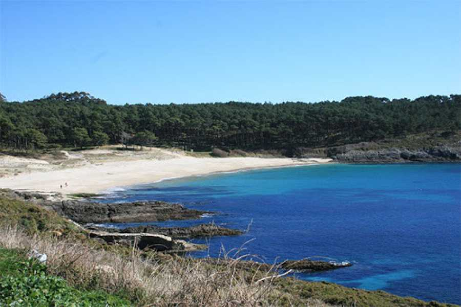 Playa de Melide en Cangas, Pontevedra.