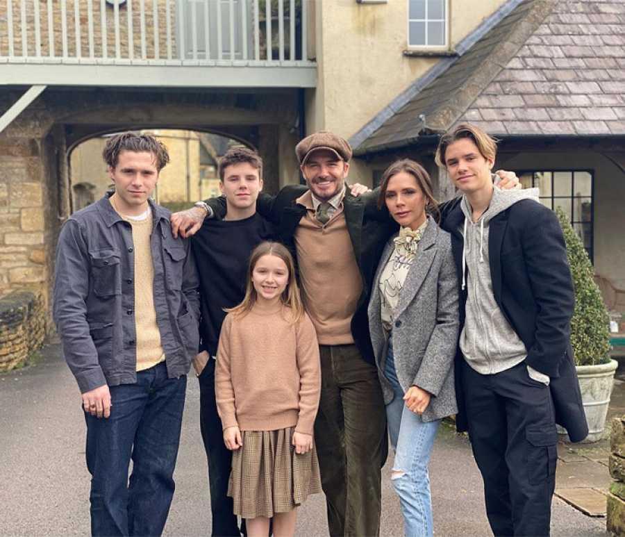 La familia de David y Victoria Beckham
