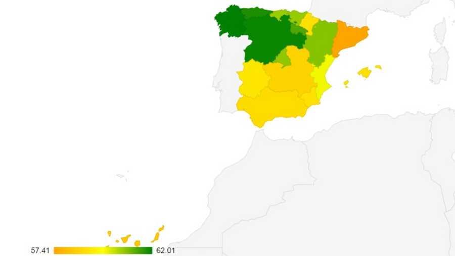 Madrid, Galicia y Cantabria: las comunidades con mejores resultados de España