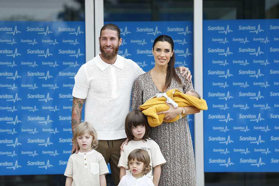 Pilar Rubio y Sergio Ramos han estado acompañados de Sergio Jr, Marco y Alejandro