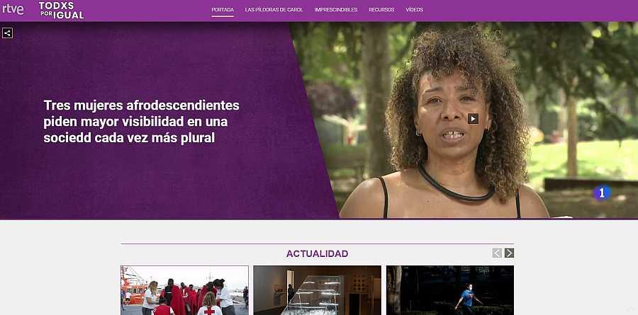 Todxs por igual, el Portal de la Igualdad de RTVE