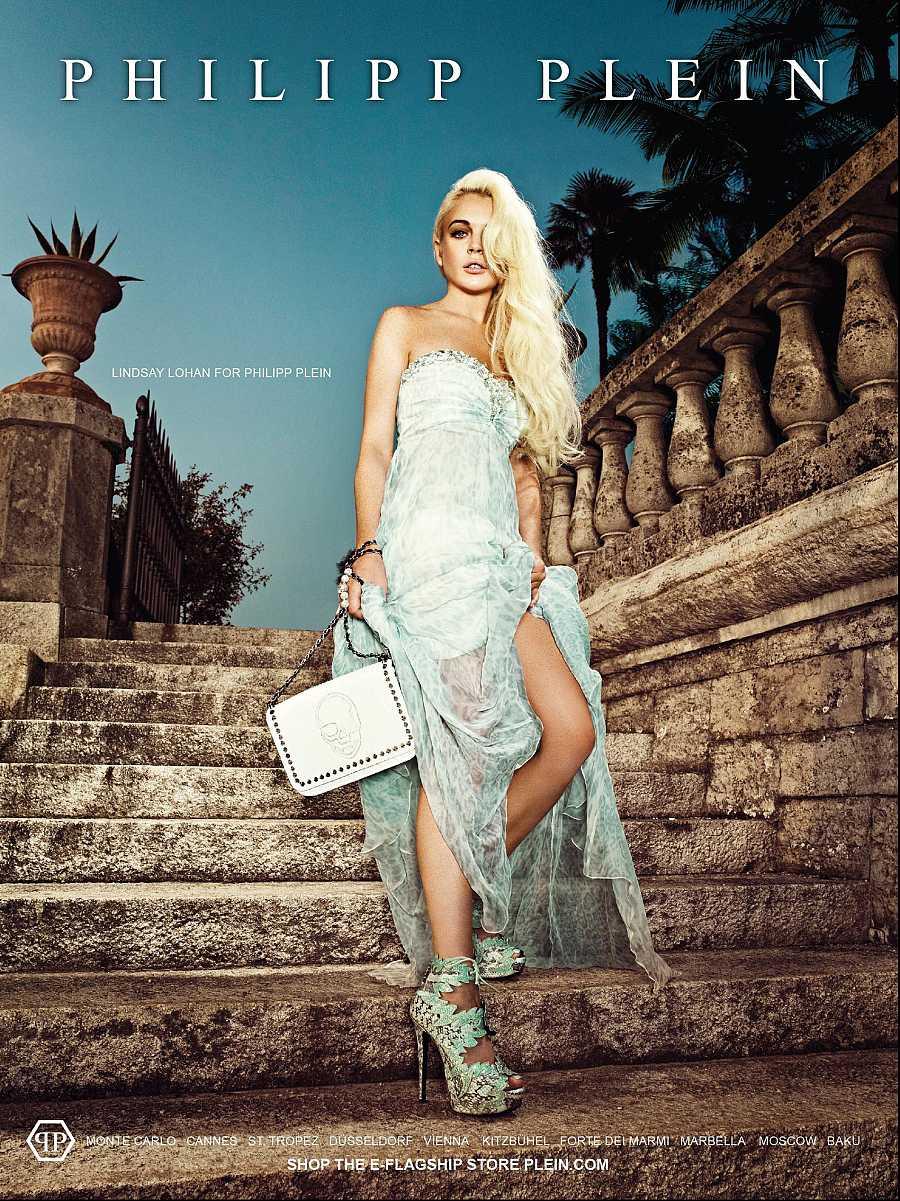 Lindsay Lohan en una campaña para el diseñador alemán Philipp Plein