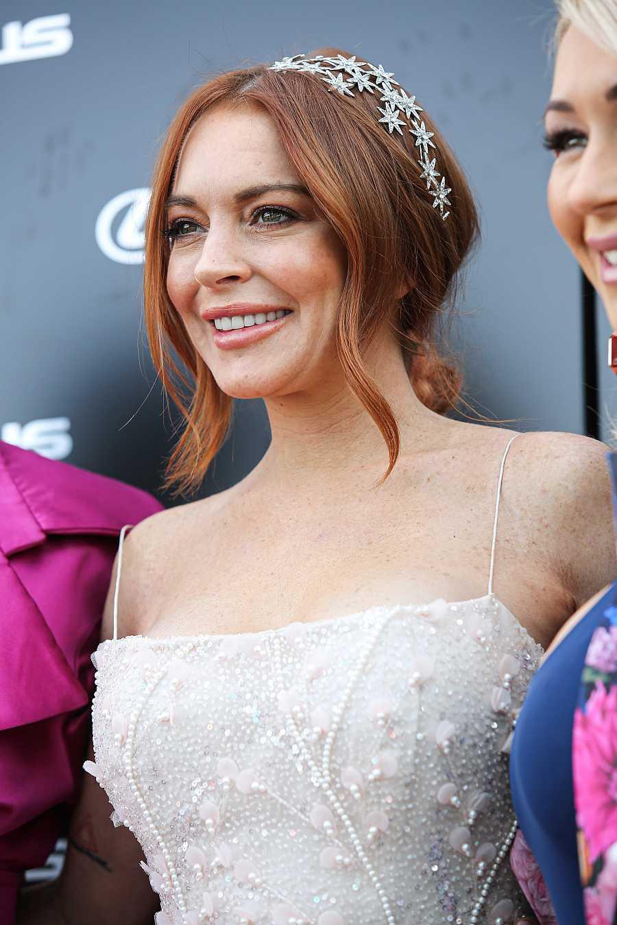 Lindsay Lohan en un evento en Melbourne, Australia