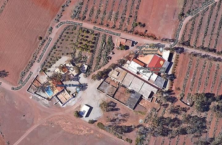 Imagen satélite del cortijo Las Chiqueras, en Almería