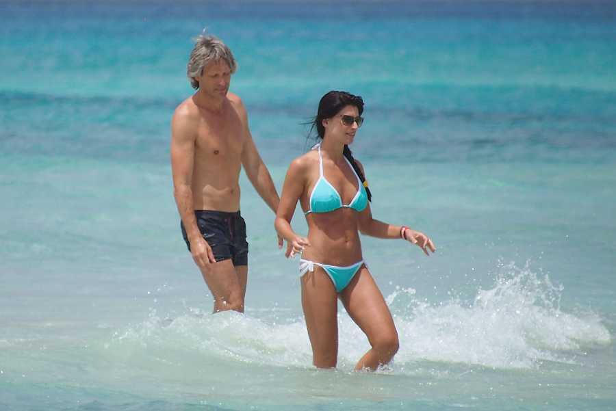 Sonia Ferrer durante unas vacaciones con Maco Vricella