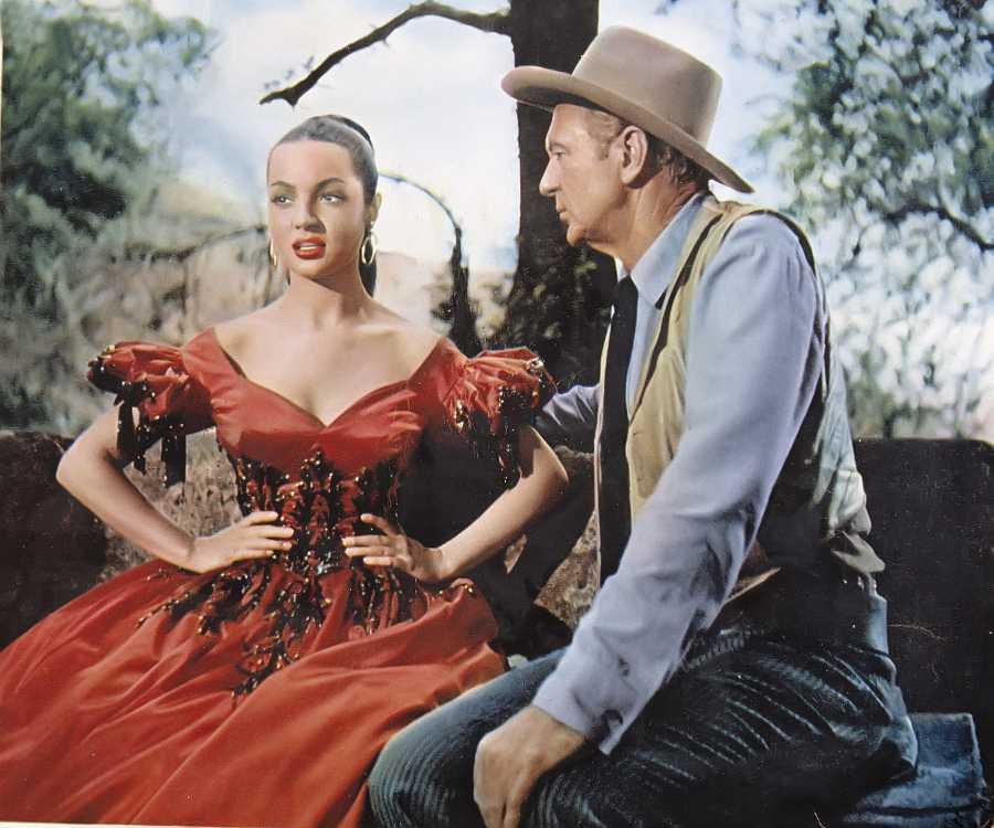 Sara Montiel y Gary Cooper en la película