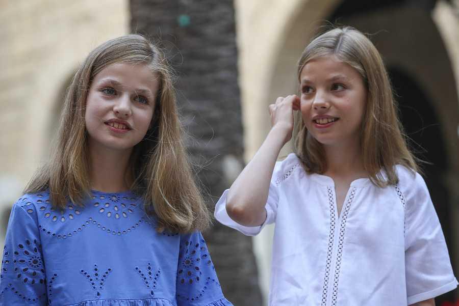 Leonor y Sofía visitaron el Palacio Almudaina en el 2018