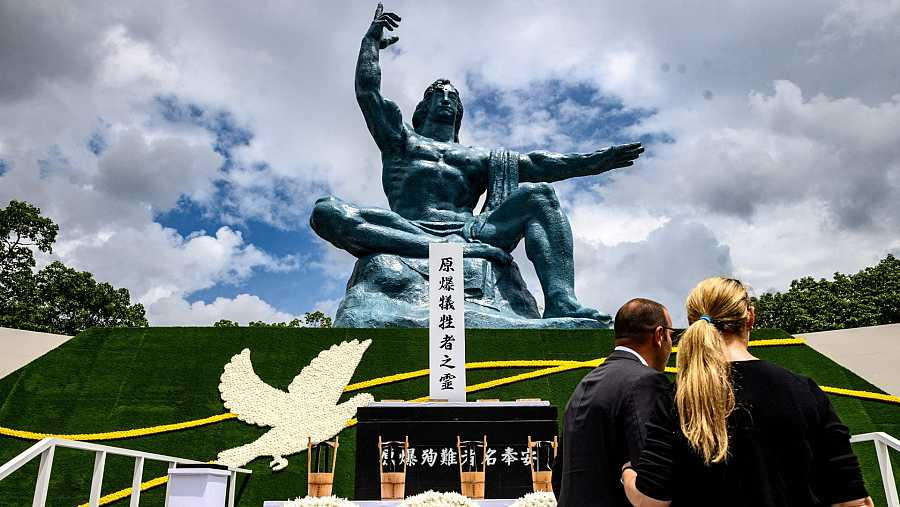 El Parque de la Paz de Nagasaki ha acogido la ceremonia por el 75 aniversario del bombardeo nuclear de la ciudad.