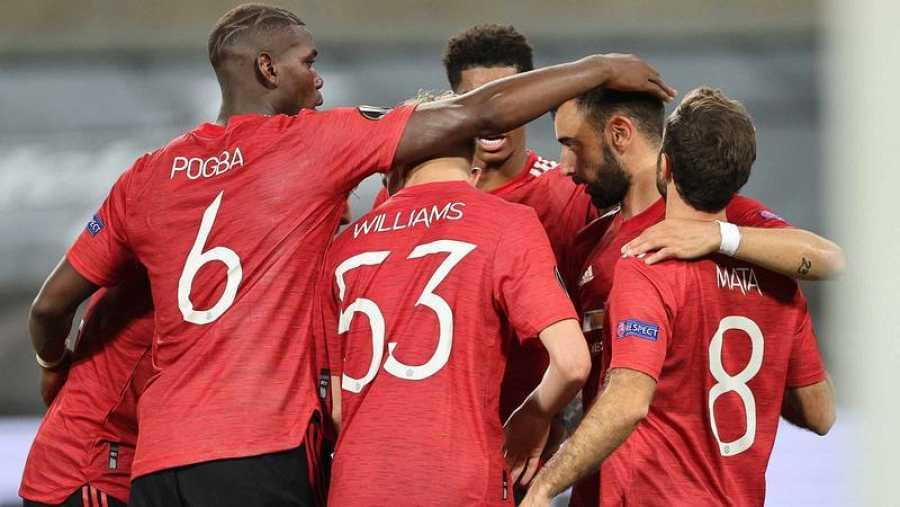 El Manchester United celebra 1-0