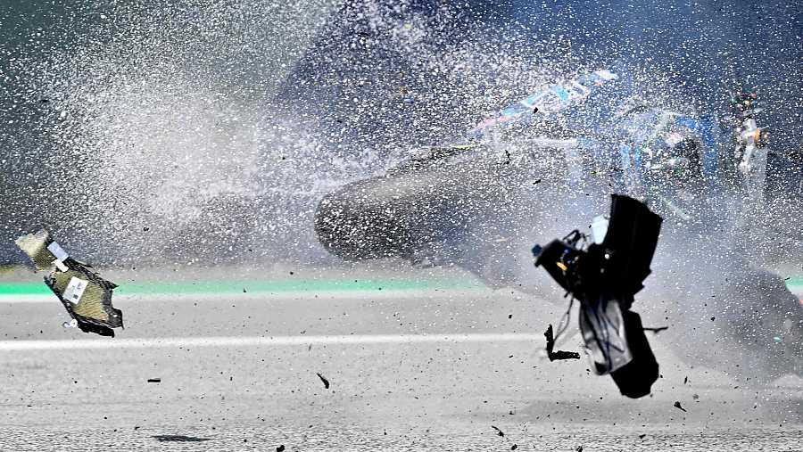 Así fue el accidente de Bastianini en el GP de Austria de Moto2