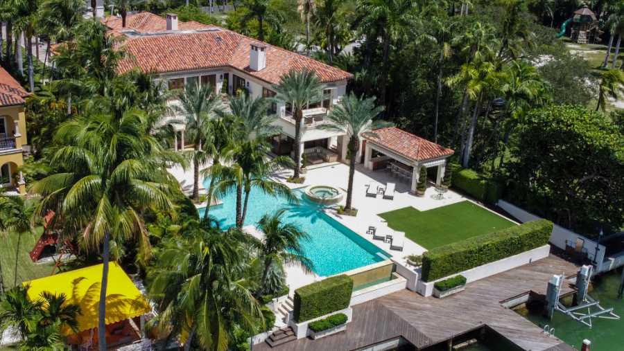 Vista aérea de la nueva propiedad de JLo en Los Ángeles