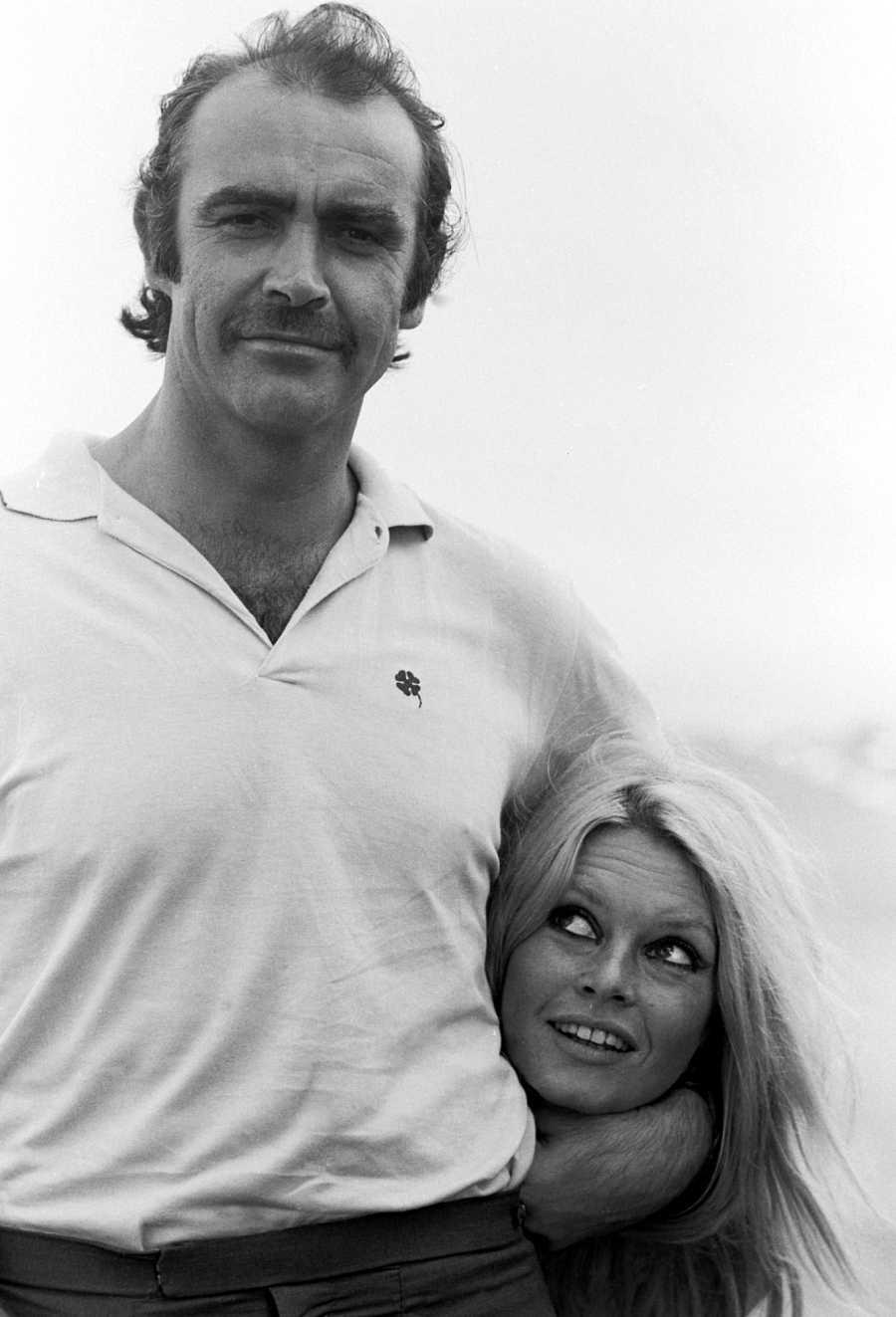 Sean Connery junto a Brigitte Bardot en 1986