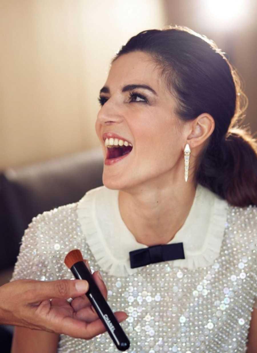 Clara Lago en el 'backstage' del Festival de Cine de Málaga