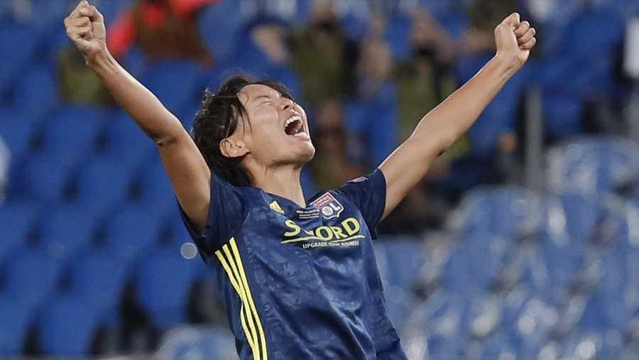 Imagen: Kumagai festeja el segundo gol