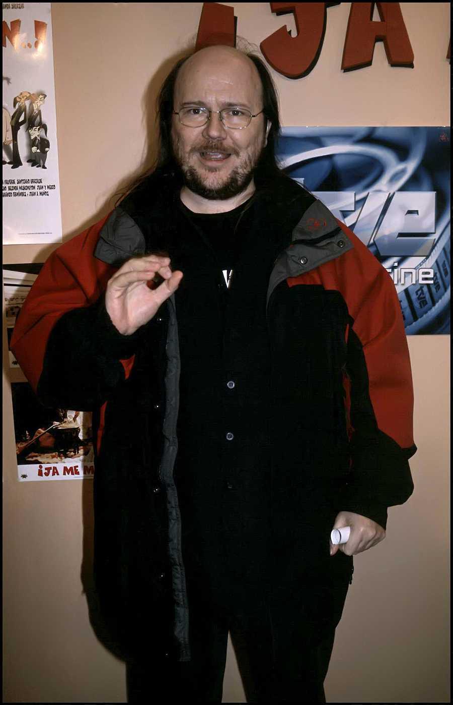 Santiago Segura en la presentación de 'Ja me maaten' en el años 2000