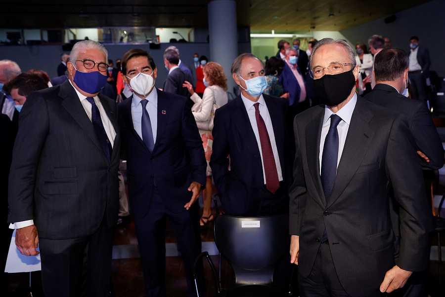 Sánchez apela a la unidad frente a la pandemia en una conferencia en Madrid