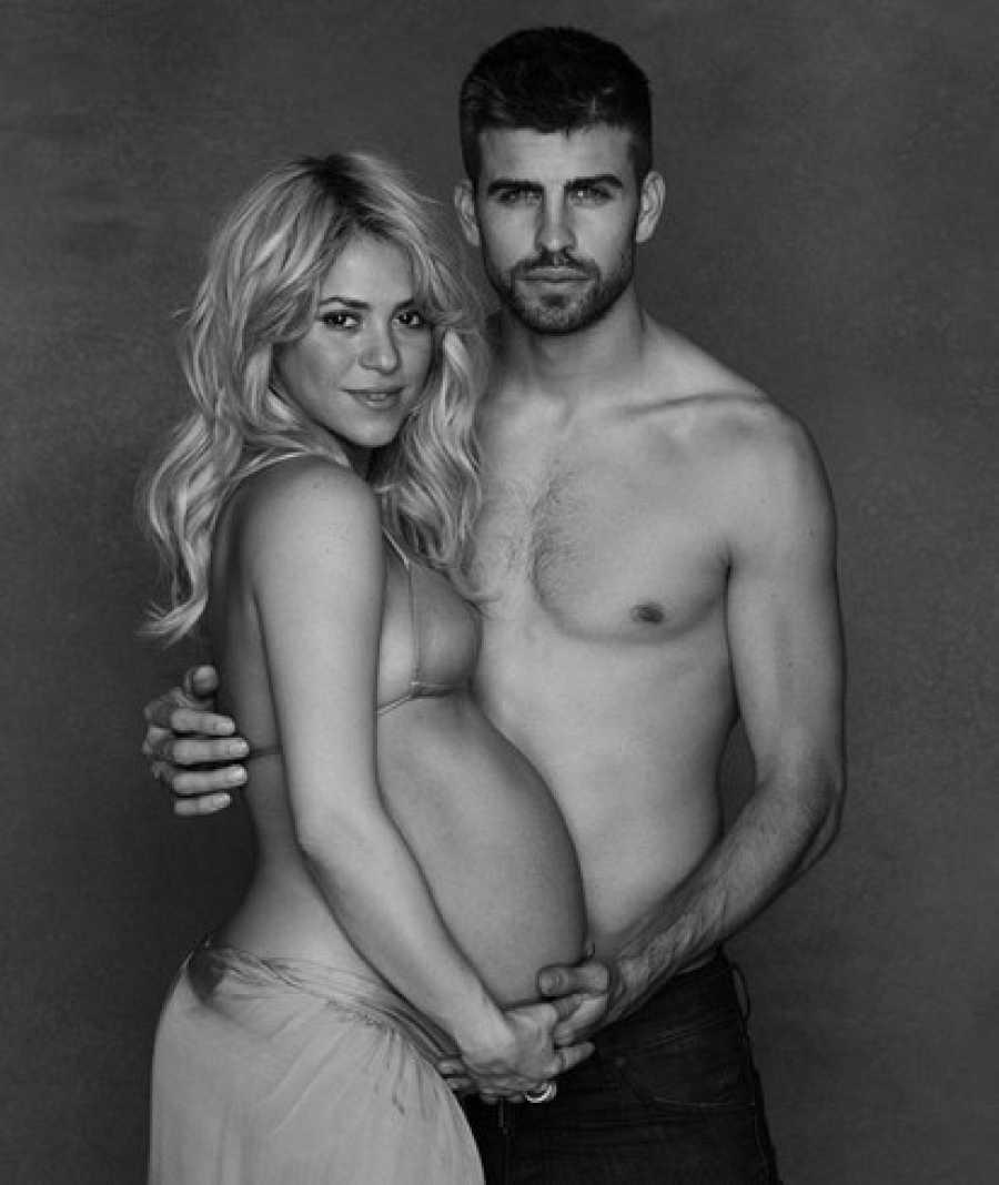 Shakira y Piqué posan para Unicef cuando la cantante estaba embarazada de su primer hijo