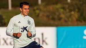 El defensa Eric García, en el entrenamiento de la selección.
