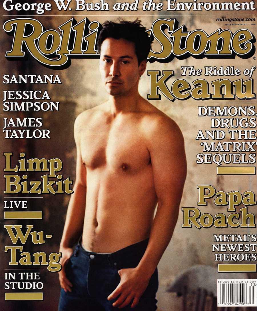 Keanu Reeves en la portada de la revista Rolling Stone