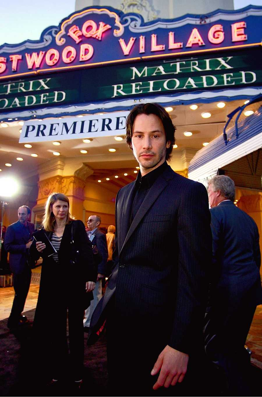 Keanu Reeves en el preestreno de 'The Matrix Reloaded', 2003