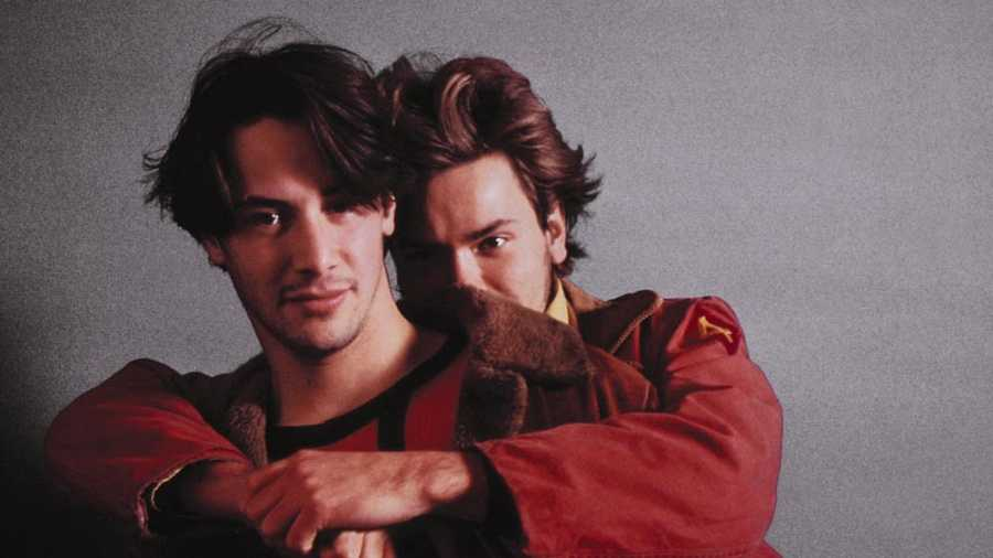Keanu Reeves y River Phoenix, fotos para la promoción de 'My Own Private Idaho' (Gus Van Sant, 1991)