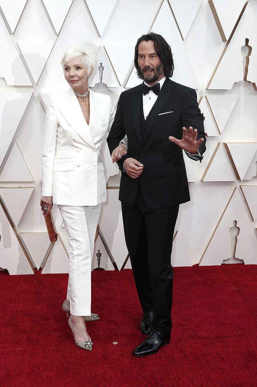 Keanu Reeves y su madre, Patricia Taylor, en la última ceremonia de los Premios Oscar