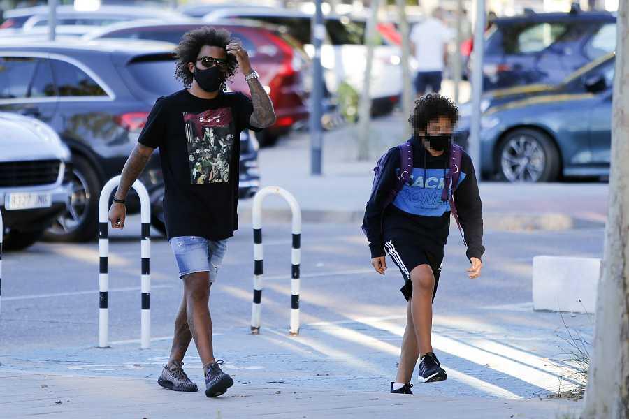 Marcelo Vieira lleva a su hijo al colegio el primer día del curso 2020/2021