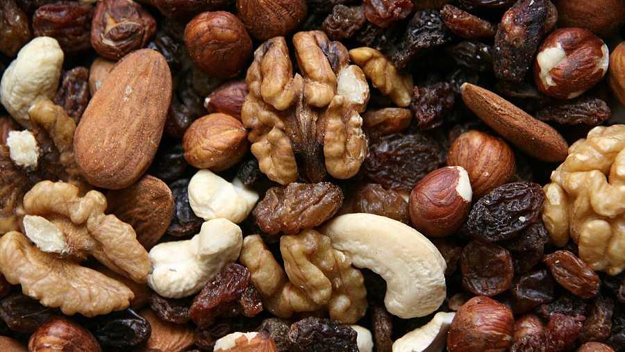 Nueces, snack saludable
