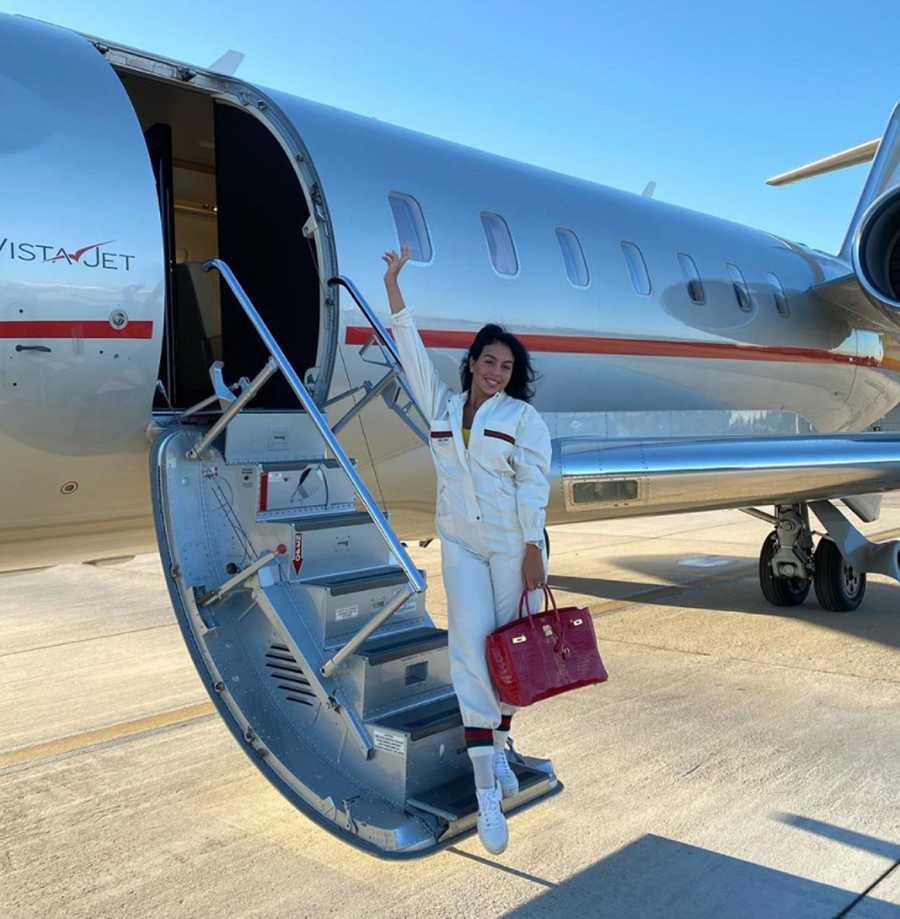 Georgina Rodriguez, en jet camino al Festival de Cine de Venecia