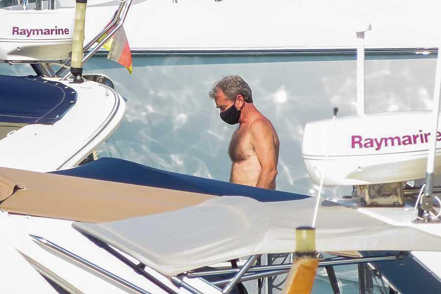 Fernando Simón de buceo en Mallorca