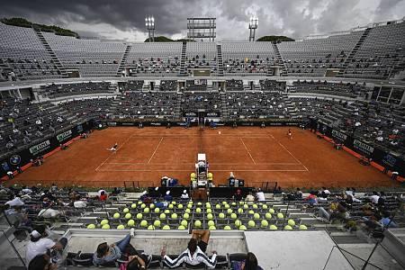 Vista general de la pista central durante la final del Abierto de Roma