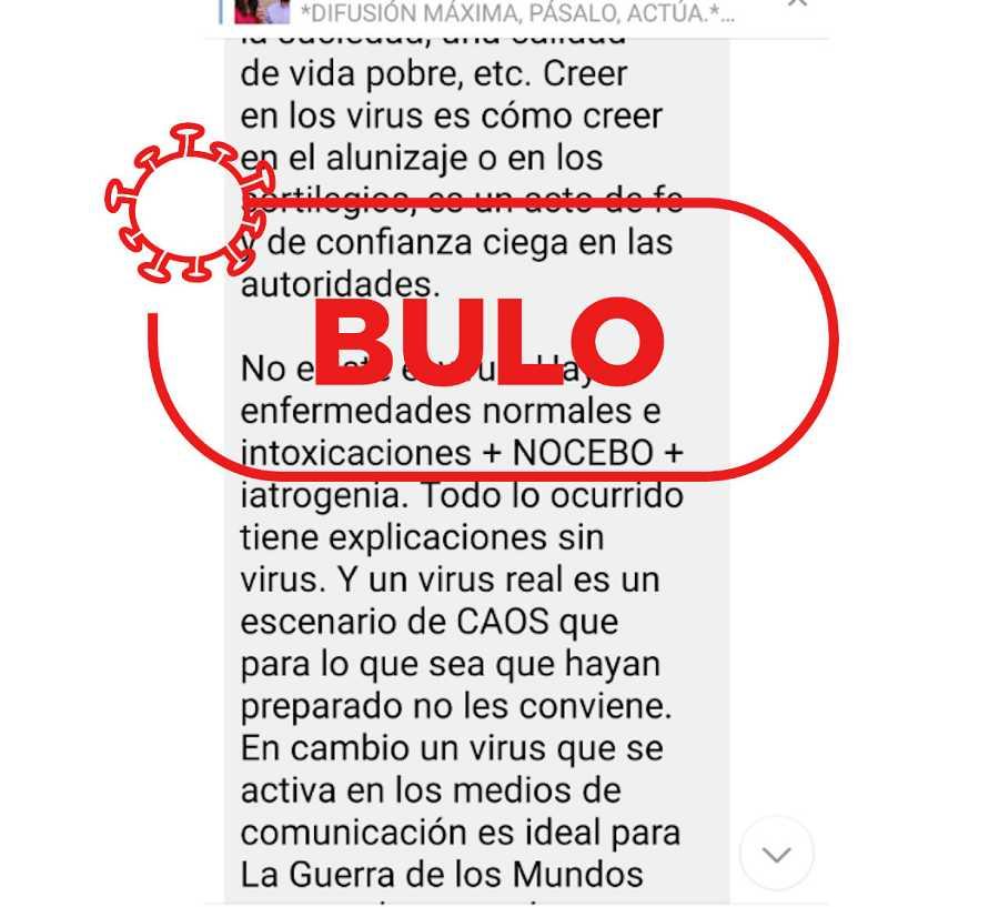 Mensaje en un canal de Telegram analizado: