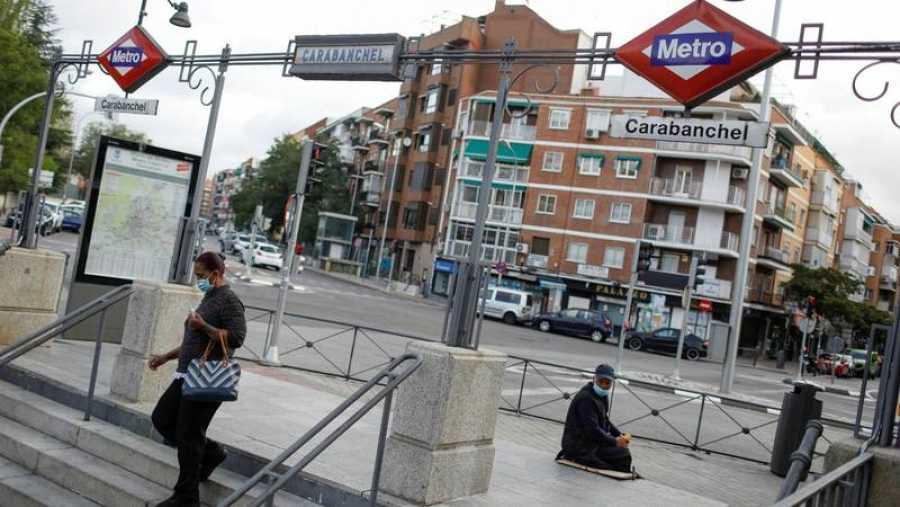 El metro de Carabanchel, en Madrid