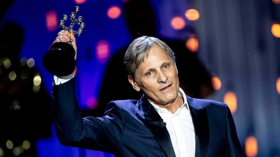 Viggo Mortensen recoge el Premio Donostia del Festival de cine de San Sebastián