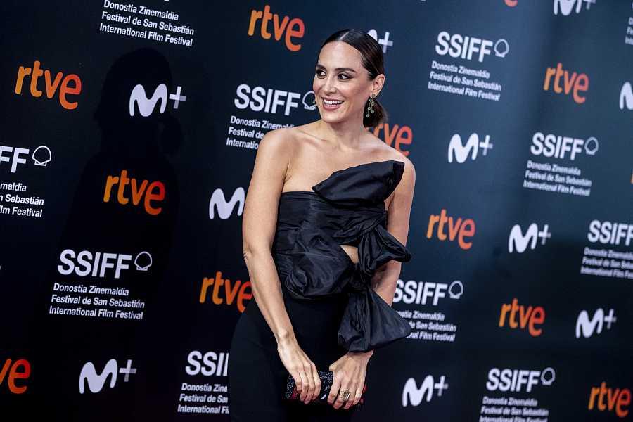 Tamara Falcó, reluciente en el Festival de San Sebastián