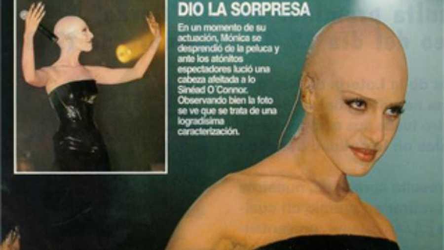 Mónica Naranjo hizo historia cuando se quitó la peluca sobre el escenario para mostrar su cráneo rapado