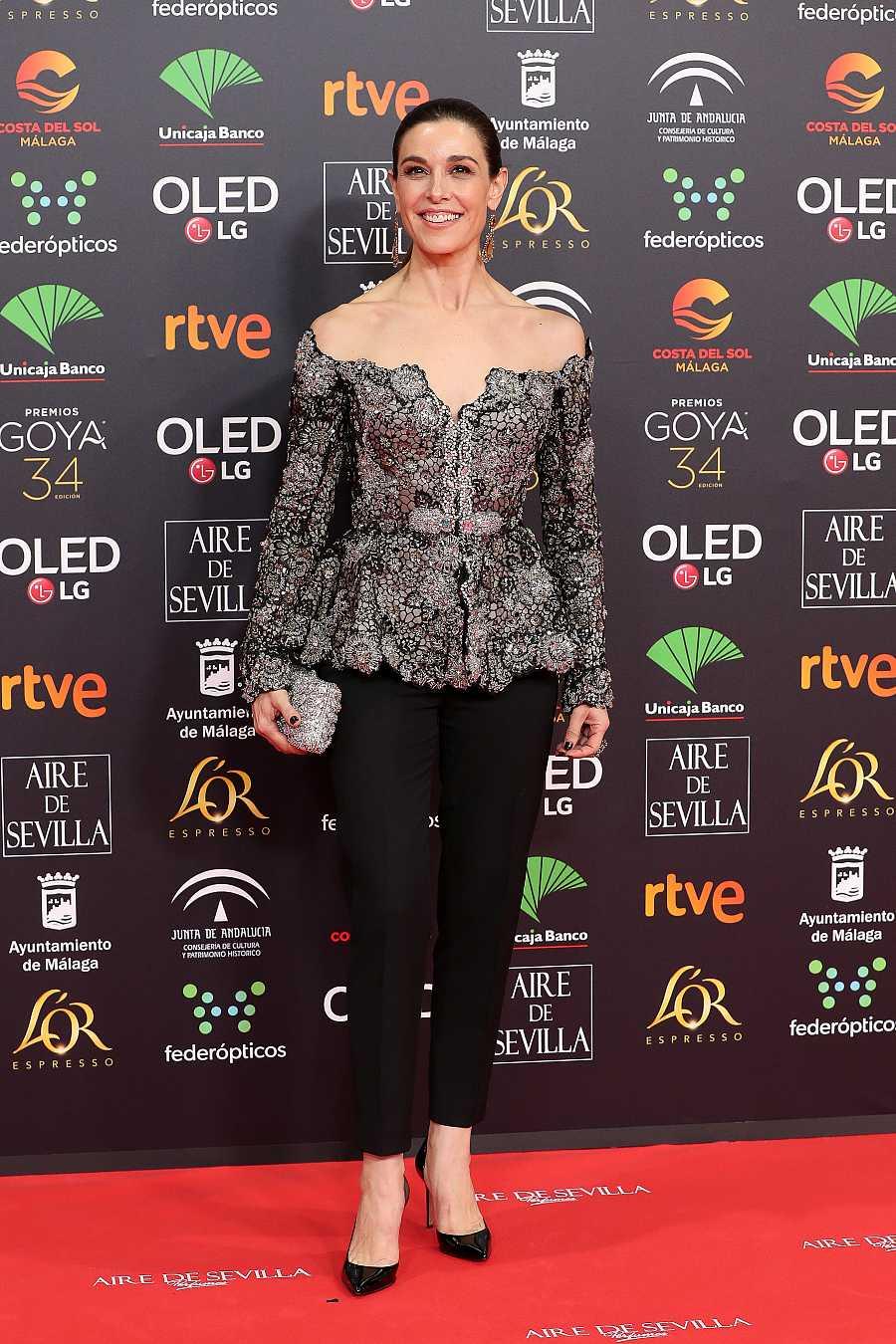 Presenter Raquel Sanchez Silva at photocall of the 34th annual Goya Film Awards in Malaga on Saturday, 25 January 2020.