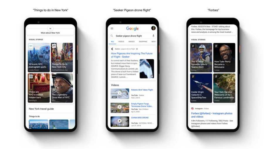 Por el momento, las stories de Google solo están presentes en Brasil, EEUU e India