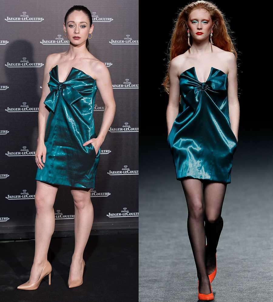 Elena Rivera, elegantísima con un diseño de la firma The 2nd Skin