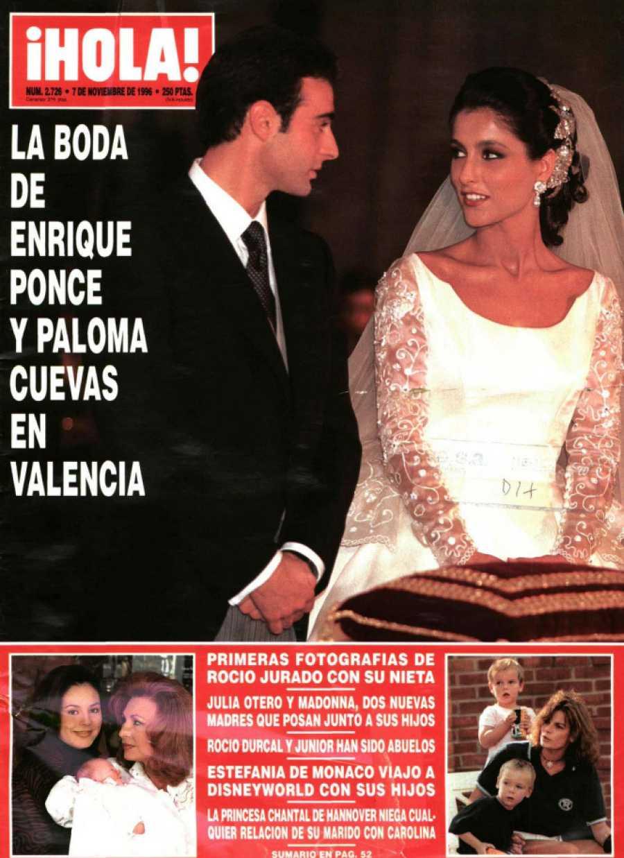 Enrique Ponce y Paloma Cuevas en la portada de Hola el 7 de noviembre de 1996