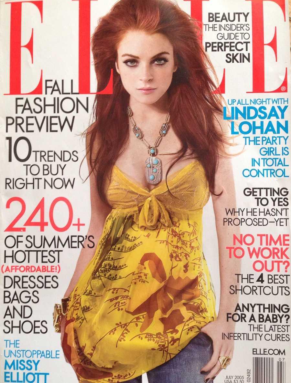 Lindsay Lohan en la portada de Elle