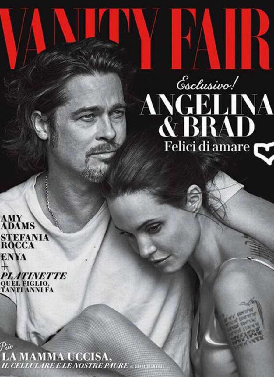 Brad Pitt y Angelina Jolie en Vanity Fair Italia