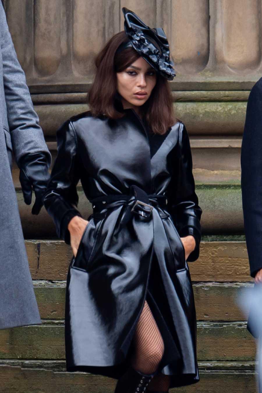 Zoe Kravitz, nueva Catwoman, en 'The Batman'. Imágenes del rodaje en Liverpool