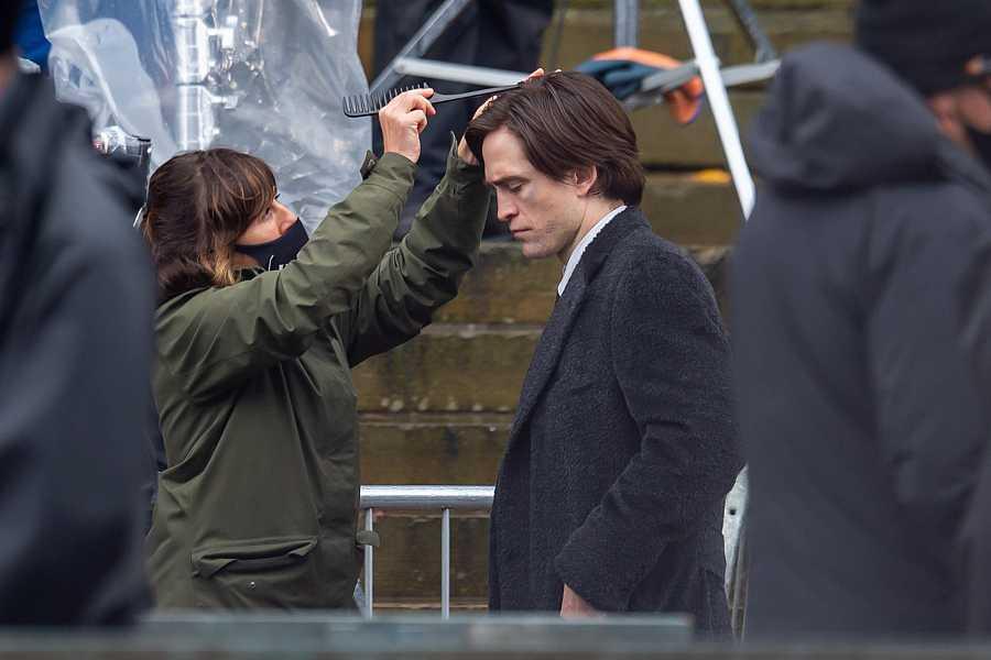 Robert Pattinson durante el rodaje de The Batman