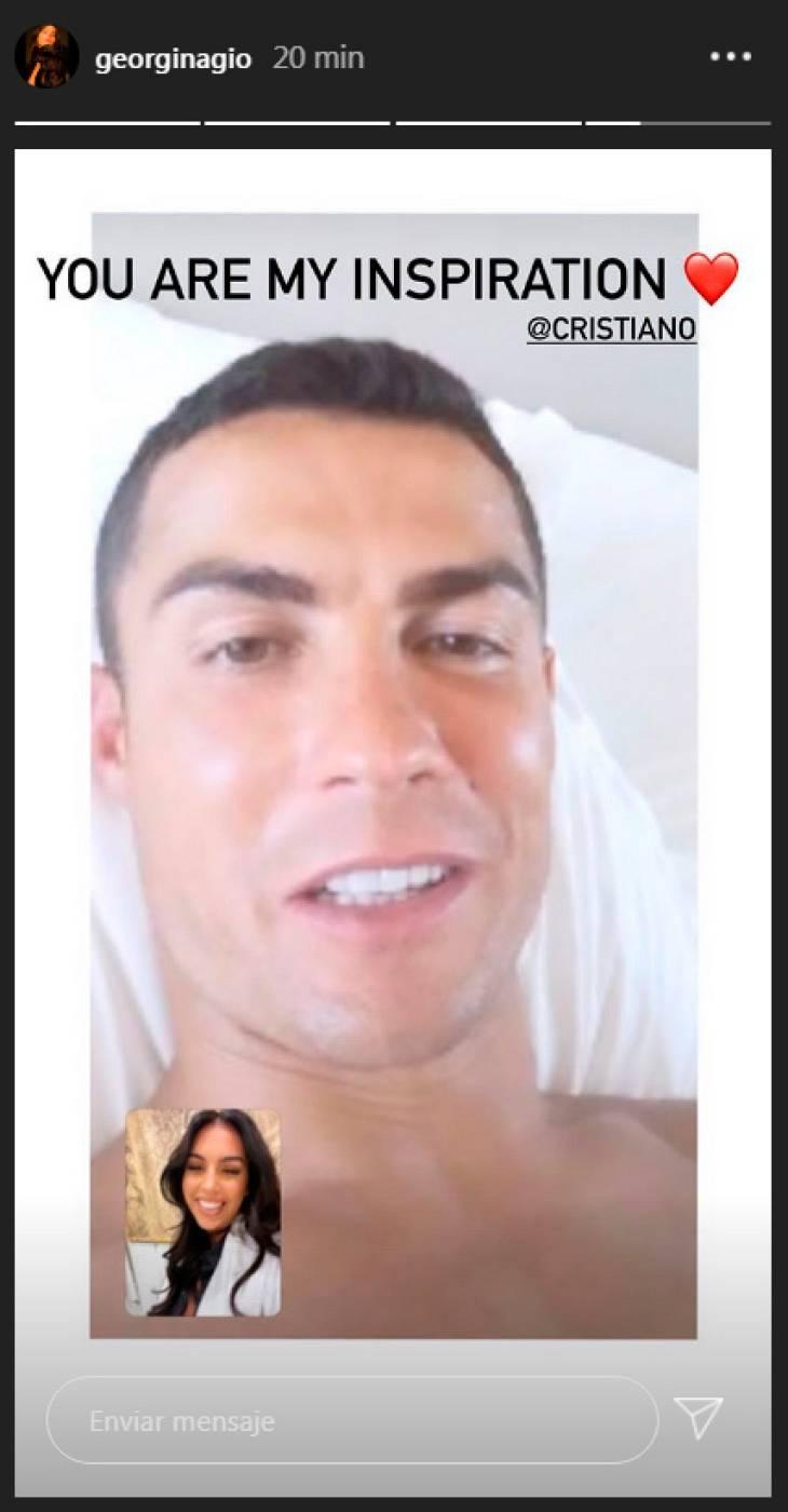 Georgina Rodríguez apoya a Cristiano Ronaldo