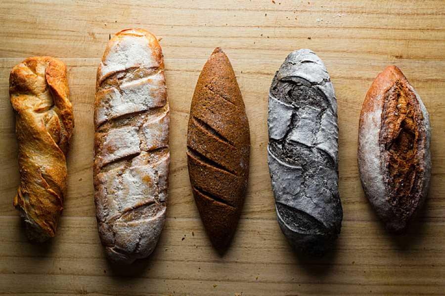 Diferentes tipos de panes: de trigo, espelta, centeno...