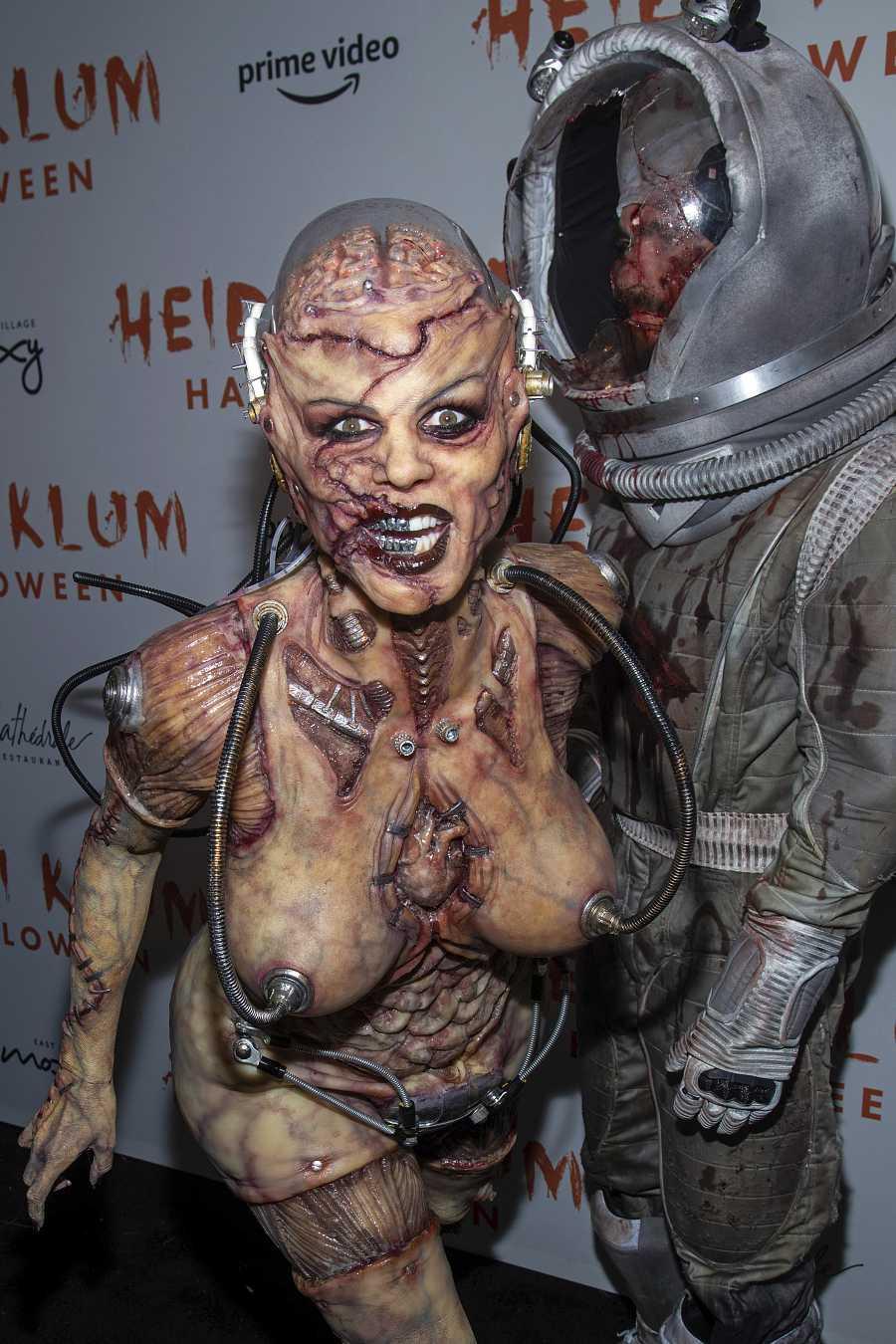 eidi Klum y su novio, Tom Kaulitz, siempre las estrellas de la fiesta