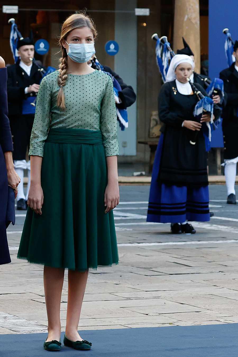 La infanta Sofía a su llegada a los Premios Princesa de Asturias 2020